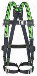 Miller H-Design Duraflex Single Point Harness with Automatic Buckles