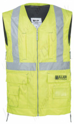 Hi-Vis Vest for Miller H-Design Harness (VEST ONLY NO HARNESS), Available in Yellow or Orange