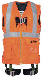 Miller H-Design Duraflex 2 Point Hi-Vis Vest Harness, Yellow or Orange