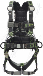 "Miller ""R7 OFFS"" Revolution 2 Point Fall Arrest Harness, Front and Rear Anchorage (front webbing loops) and Work Positioning side D-rings"