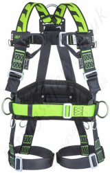 Miller H-Design® BodyFit Fall Arrest Harness and Work Positioning Belt, with Mating Buckles and 2 sternal webbing loops
