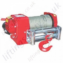 Hydraulic Recovery Wire Rope Winch, Worm Drive for Pulling Applications- 3500kg