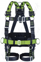 Miller H-Design® BodyFit Fall Arrest Harness and Work Positioning Belt, with Mating Buckles and Front D-Ring