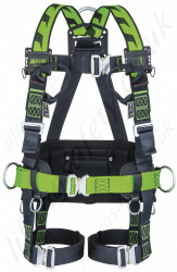 Miller H-Design® BodyFit Fall Arrest Harness and Work Positioning Belt, with Automatic Buckles and 2 Sternal Webbing Loops