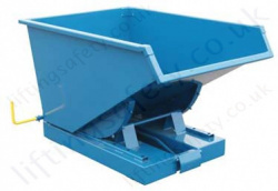 Heavy Duty Roll Forward Fork Lift Truck Tilting Skips, Capacity 2500kg, Different Size Options Available