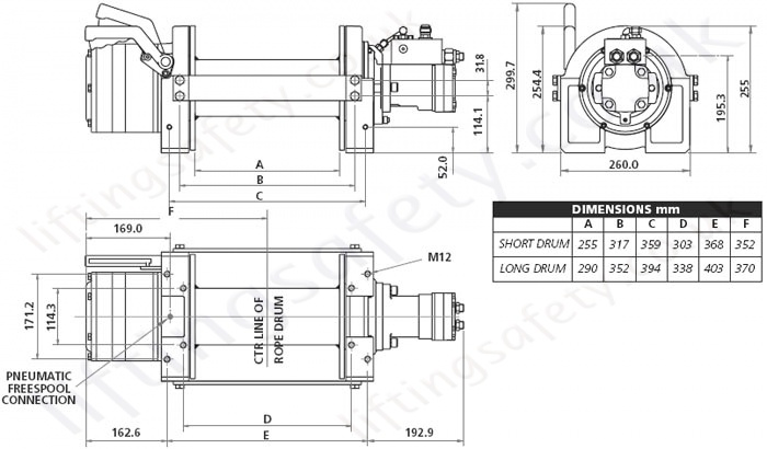 Hydraulic recovery winch wmh-12-14-p specs