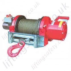 "Superwinch ""H12P"" and ""H14P"" Hydraulic Free Spool Wire Rope Recovery Winch for Pulling Applications - 5450kg or 6350kg"