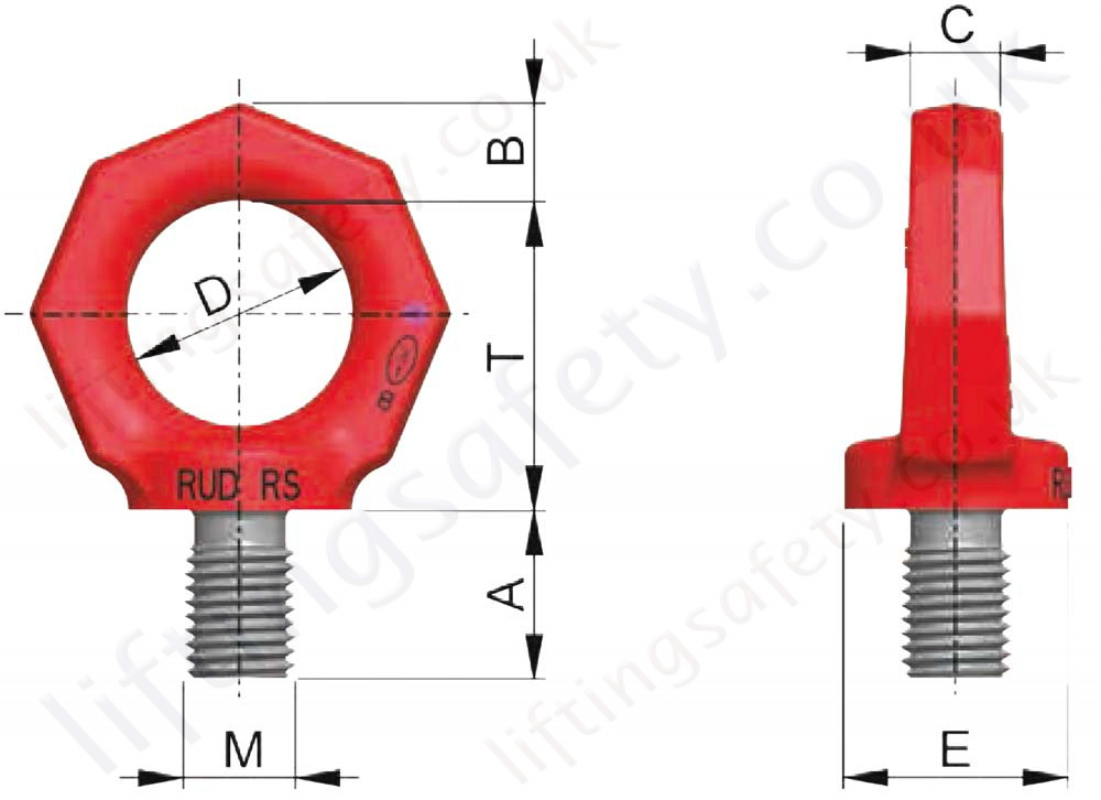 Rud Rs Eye Bolt Dimensions