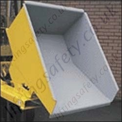 Regular / Heavy Duty Roll Forward Skip Fork Truck Attachment. 250 to 2000 litre / 1000kg to 1500kg