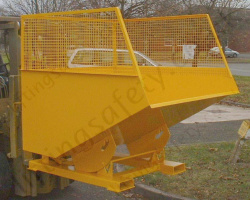 Fork Truck Mounted Roll Forward Packaging Skip. 700 Litre to 2500 Litres - 1000kg to 1500kg