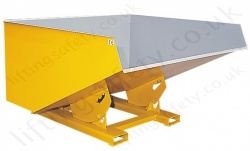 """Rubble Master"" Fork Lift Truck Mounted Roll Forward Skip.1200 Litres - 1500kg"
