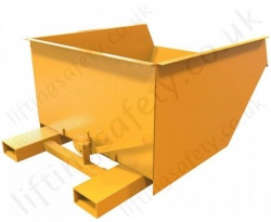 Low Loading Fork Truck Mounted Skips 180 Litre to 1500 Litres - 840kg to 1200kg