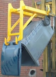 Bin Tipped Up to Empty Position