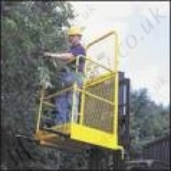 "Fork Mounted Tine Mounted Man-Riding Access Basket c/w ""Hinged Back"" for Transportation and Storage Three Gate options - 1 or 2 Person Options"