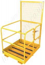Fork Truck Man Basket With Gate