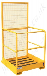 Fork Truck Man Basket With Lift Up Bar