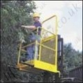 Fork Mounted Man Riding Access Platform Attachment. 1 or 2 Person, and Optional Means of Entry