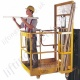 "Fork Mounted Heavy Duty ""Ultimate"" Top of The Range Access Platform With Castors and Other Great Features Inc Side Gate- 2 Persons"