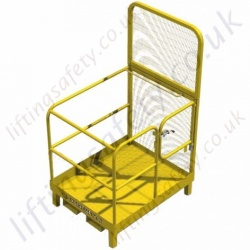 "Fork Mounted Man Access Basket For Use With a ""Pedestrian Stacker"" 3 Gate Options - 1 or 2 Person options."