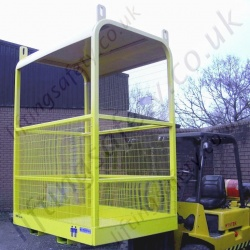 Crane Slung and Fork Lift Truck Mounted Man-Riding Access Basket Attachment. 2 Gate Options, 3 sizes  - 2 to 6 Person Options
