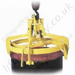 "Overhead Crane Hook Suspended ""Fully Automatic"" Drum Tongs Lifter - 360kg or 1000kg"