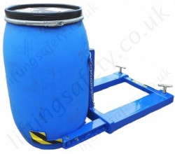 Fully Automatic Fork Truck Mounted Mauser Drum Grab For single or Twin Drums - 360kg and 760kg