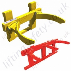 "Fork Truck ""Carriage Mounted"" Automatic Steel Drum Grab to Lift 1 or 2 Drums - 500kg to 1000kg"
