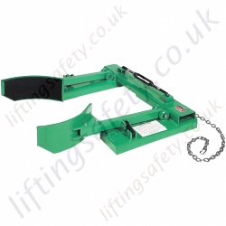 Non Marking, adjustable Drum Grab Fork truck Attachment. For Drums from 460mm to 585mm Diameter - 700kg