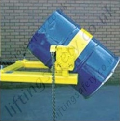 Fork Lift Truck Low Profile Drum Rotator. Suitable for Pouring Liquids. Rotation Types: Loop Chain, Crank Handle or Hydraulics- 360kg