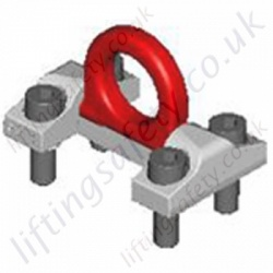 "RUD ""RBG"" & ""VRBG"" Bolt-on Load Rings, Metric thread Options - Range from 3000kg to 50000kg"