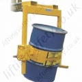 Top Mount Fork Truck Mounted (and Crane slung) Drum Rotator. Rotation Types: loop chain, crank handle or hydraulics - 360kg