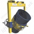 Heavy Duty Fork Mounted (and Crane slung) Drum Rotator. Rotation by Loop Chain or Crank Handle - 1000kg