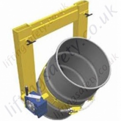 Fork Truck And Overhead Crane Mounted Manual Drum