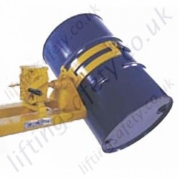 Fork Lift Truck Mounted Sideways Drum Rotator Single or Twin Drum. Rotation Types: Loop Chain, Crank Handle or Hydraulics - 360kg