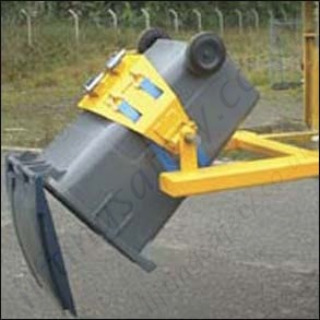 Fork Truck Mounted Multi Purpose Wheelie Bin Rotator For