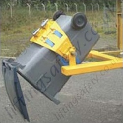 Fork Truck Mounted Multi Purpose Wheelie Bin Rotator for Waste Transfer To Larger Skips - 360kg