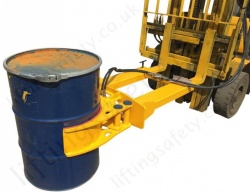 Hydraulic Drum Grab Fork Attachment