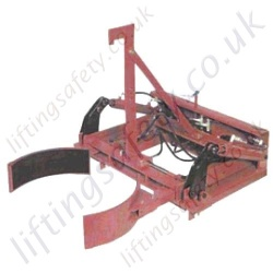 "Fork Lift Mounted ""Grip and Tip Function"" Hydraulic Operated Multi-Grip Drum Handler - 900kg"