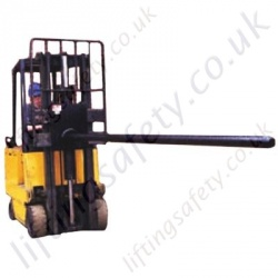 Fork Lift Truck Carriage Mounted Carpet Boom Attachment - 384kg to 700kg