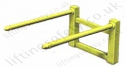 Fork Lift truck Carriage Mounted Big Bag Tines. 70mm Diameter Pin - 1000kg or 2000kg