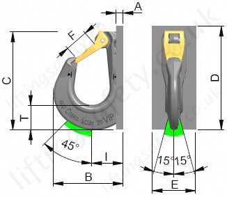 Vcgh S Excavator Hook Dimensions