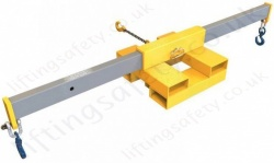 Fork Lift Truck Mounted Cross Beam Jib Lifting Attachment - Capacity 500kg/2000kg