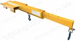 "Fork Lift truck Mounted ""Tele-Liner"" Jib Attachments - Range From 210kg to 4400kg"