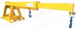 "ForkLift Truck Tine Mounted Manually Adjusted Telescopic ""Extender"" Jib Attachment - Range From 210kg to 2700kg"