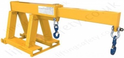 "Fork Lift Truck Tine Mounted Short Reach Telescopic ""Extender"" Jib Attachment With 2 Hooks - Range From 210kg to 3500kg"