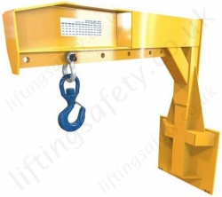 "Carriage Mounted ""Carrimax Jib"" Quick Fit Fork Lift Truck Attachment - Range From 560kg to 8000kg"
