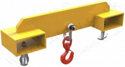 "Adjustable Fork Lift truck Mounted ""Hook"" Bolt action Fastens To the Forklift Tines - Range From 1000kg to 5000kg"