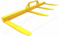 """Four Fork"" Forklift Truck Attachment, Fixed Tines (Non-Adjustable) Made To Customers Specification"