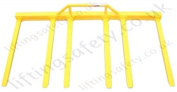 """Six Fork"" Fork Truck Attachment, Fixed Tines (Not Adjustable) Made To Customers Specifications."