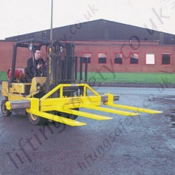 """Four Fork""Fork Truck Attachment. Adjustable Tines (Variable Width) Made to Customers Specification"